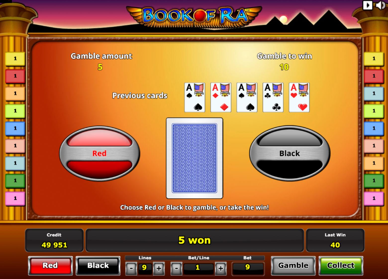 Book of ra free Īpašās iespējas (Special features) Gamble funkcija