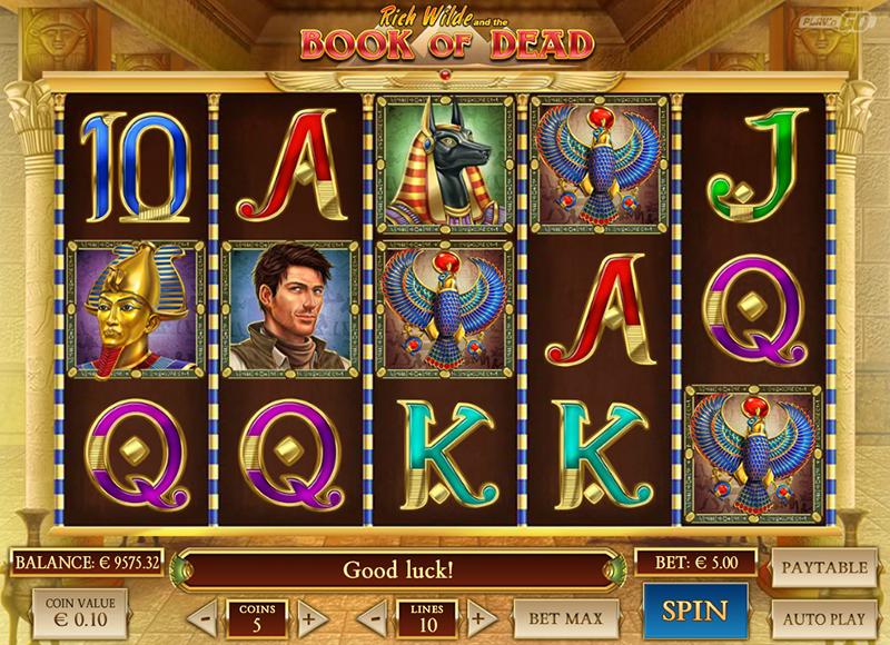 Kazino internetā Book of dead slot game bezmaksas vai uz naudu