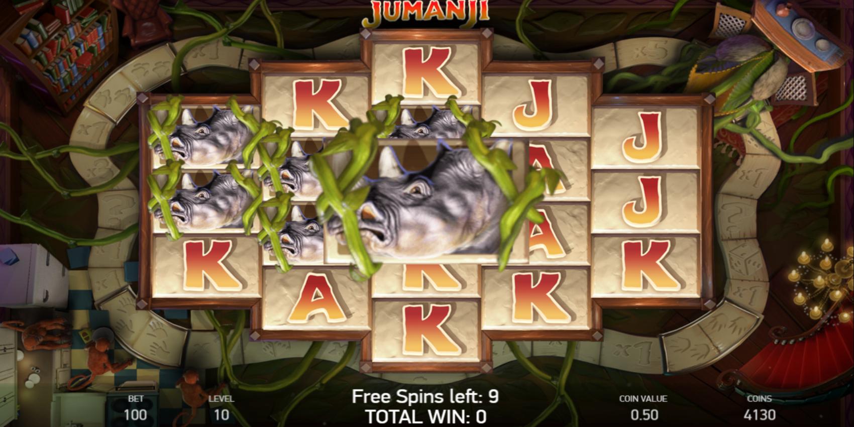 Jumanji slot game Board game Free Spins