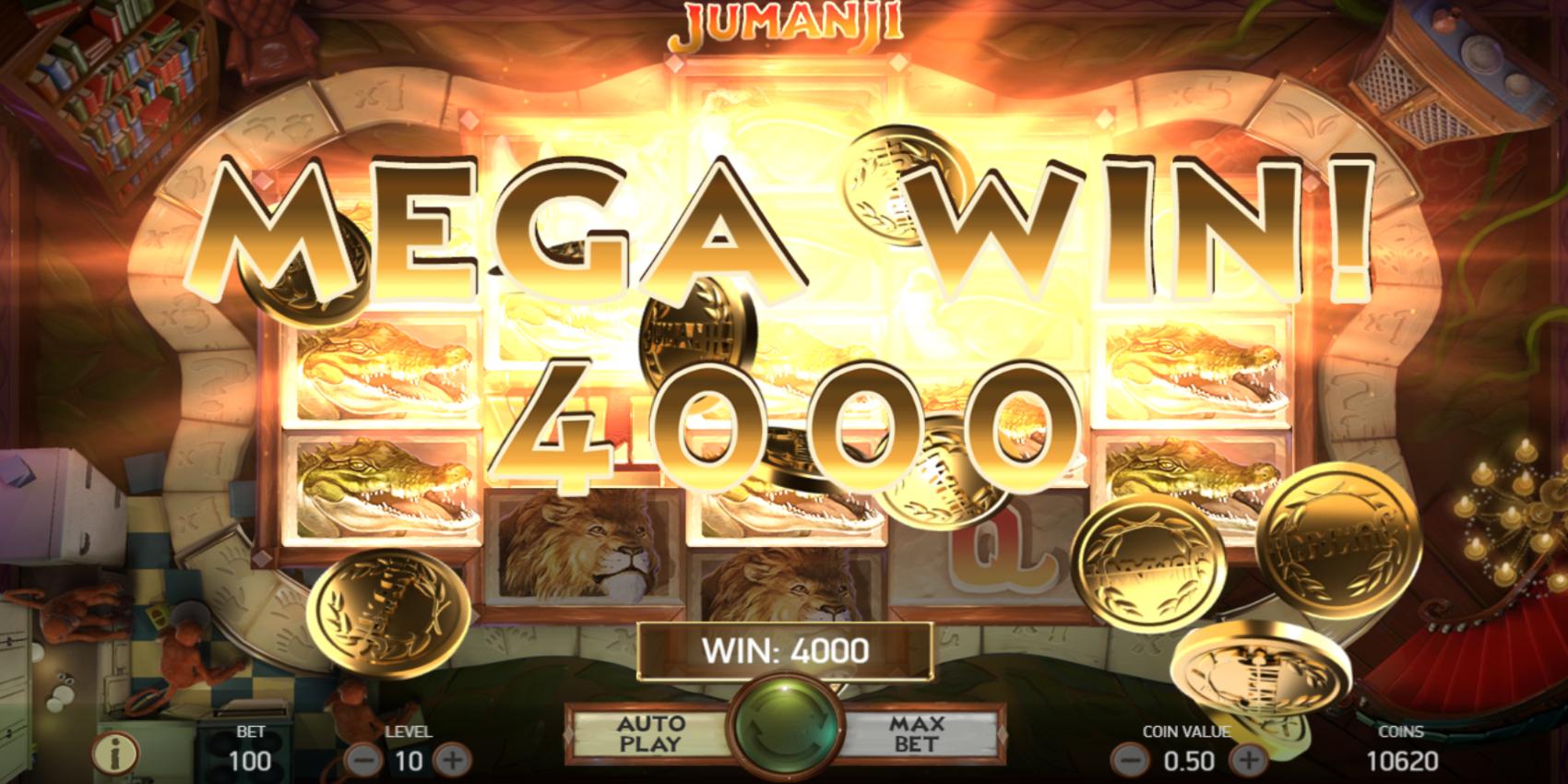 Jumanji slot game Mega Win