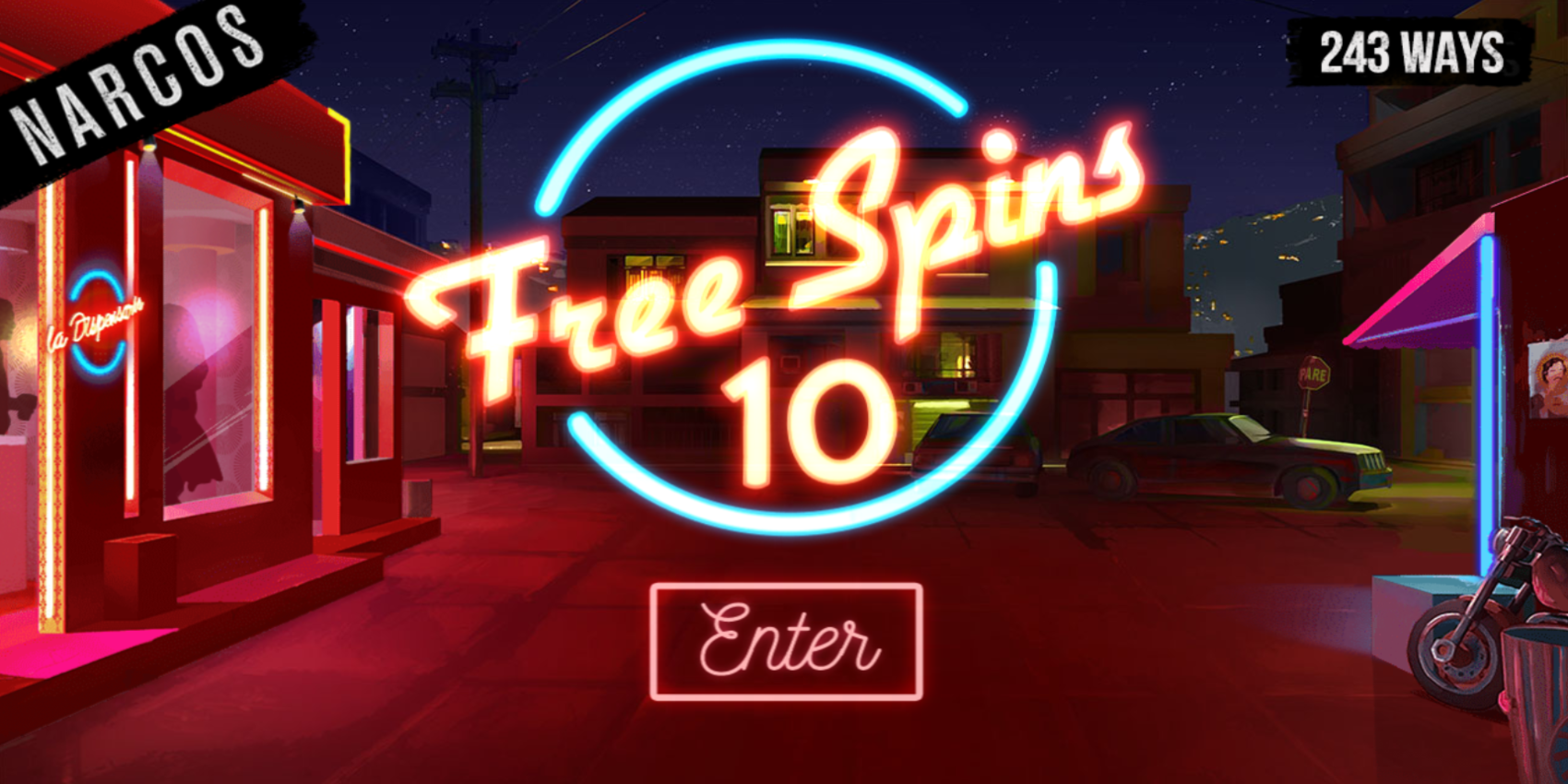 Narcos slot game 10 Free Spins Win