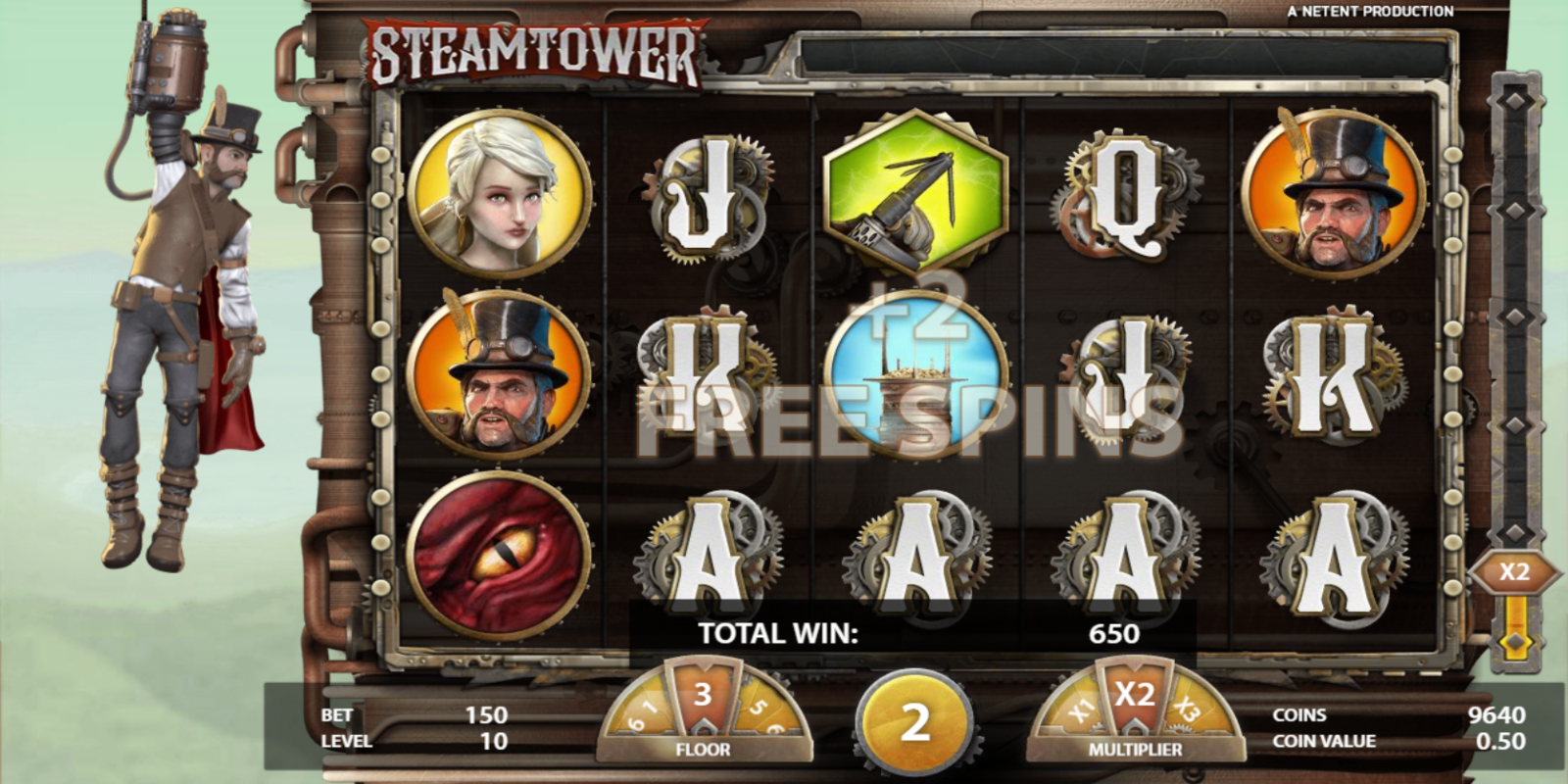Steam Tower slot game Extra Free Spins during Free Spins
