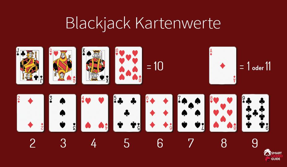 black jack karten wert