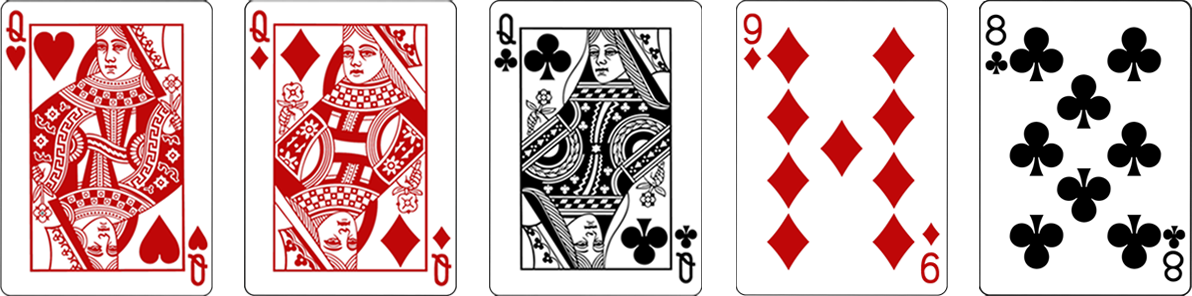 Casino hold'em pokera kāršu kombinācija - Three of a kind