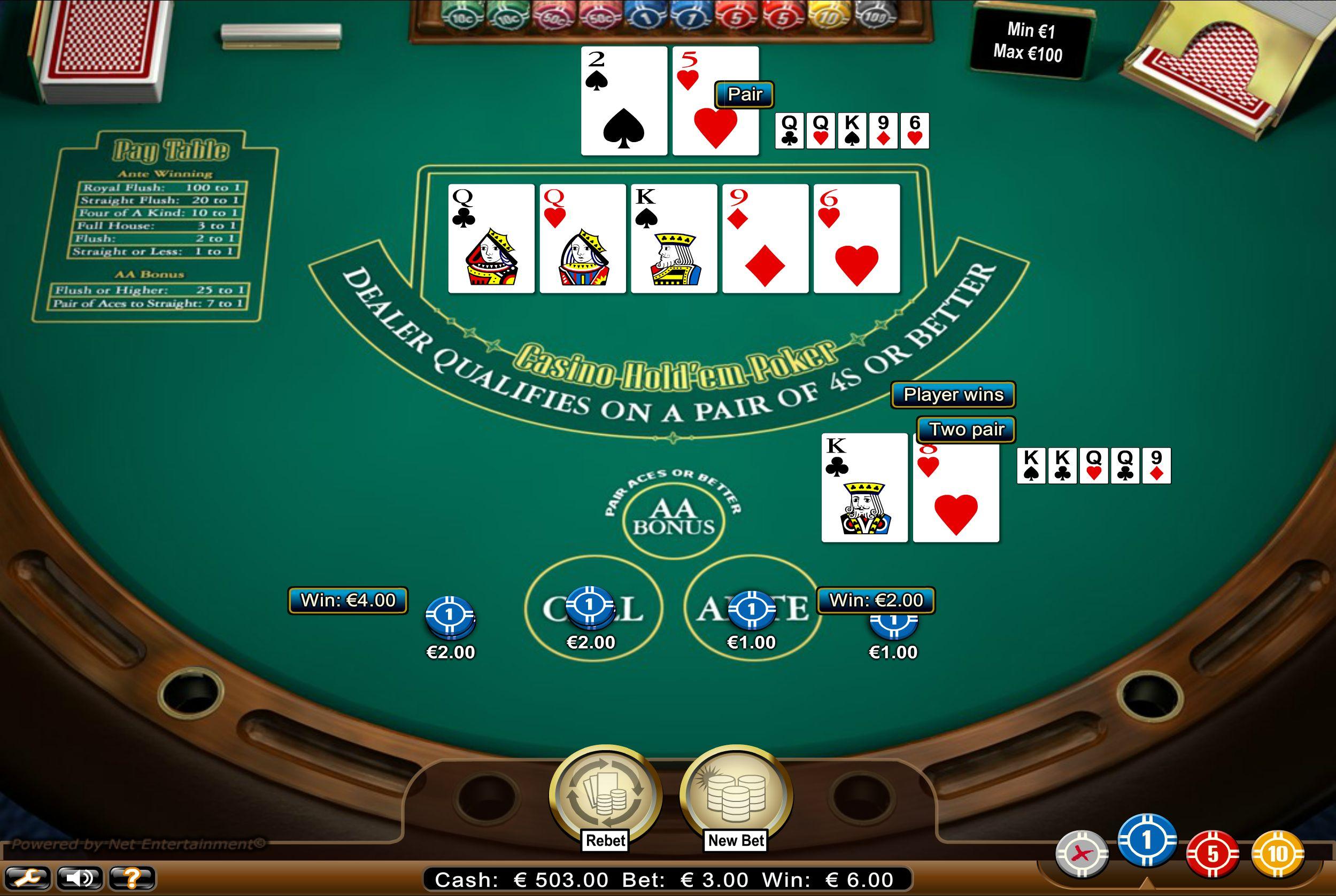 Casino hold'em tai Caribbean holdem pokeripeli säännöt