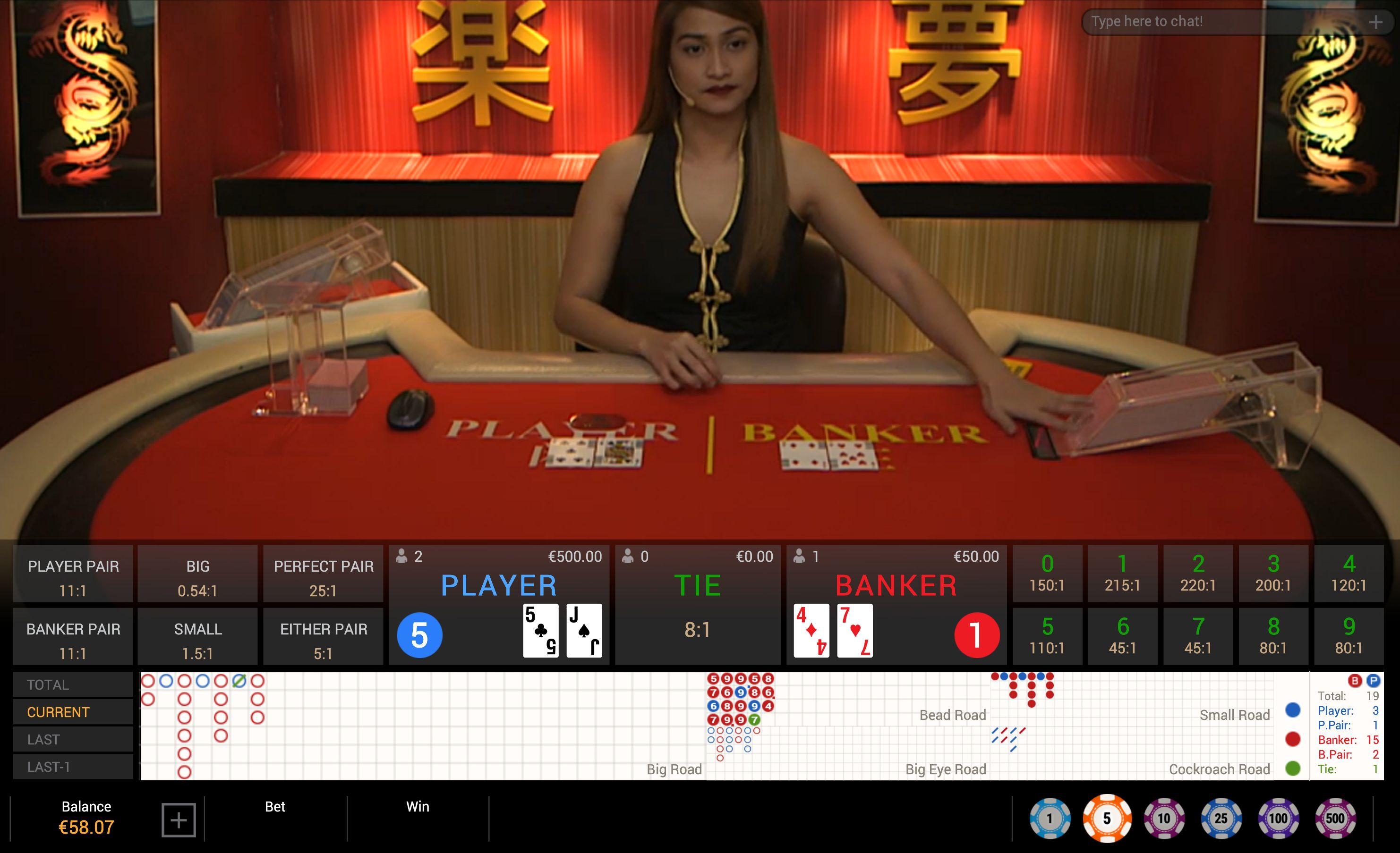 Live dealer Casino kortspill