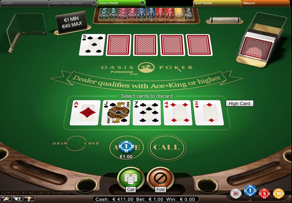oasis poker online