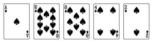 video-poker-hand ranks-flush