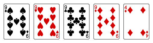 video-poker-hand ranks-four-of-a-kind