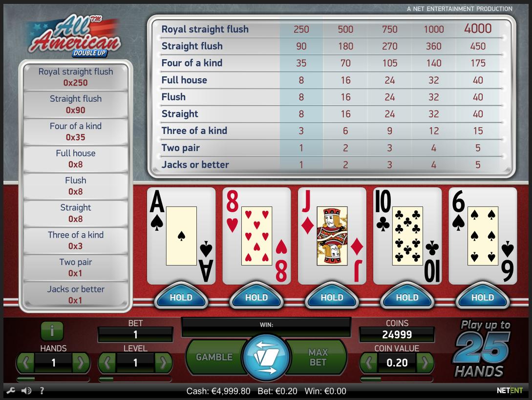 All american video poker Kā spēlēt internetā uz naudu