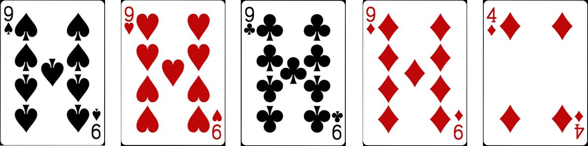 Four of a kind jeb Četri vienādi