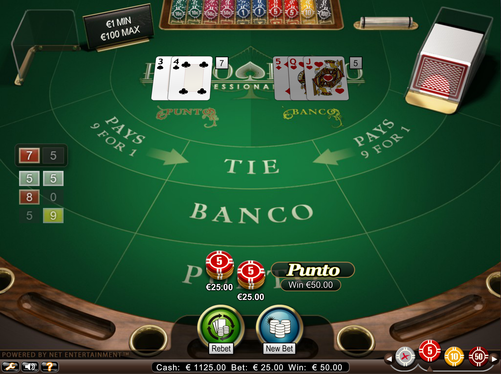 Punto Banco rules