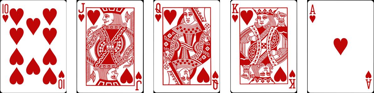 Royal Flush pokera kombinācija