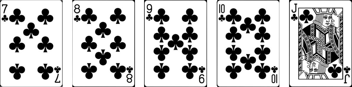 Straight flush pokera kombinācija