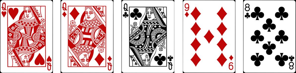 Three of a kind jeb Trīs vienādi