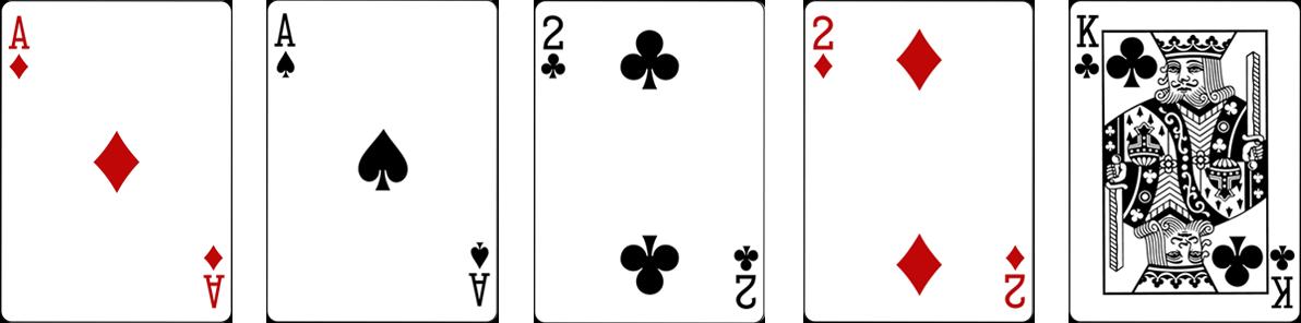 Two pairs jeb Divi pāri