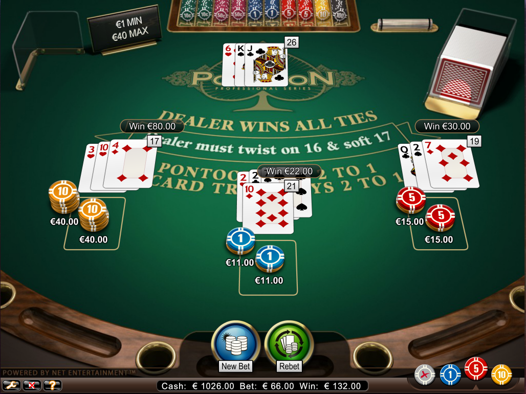 how to play_pontoon blackjack