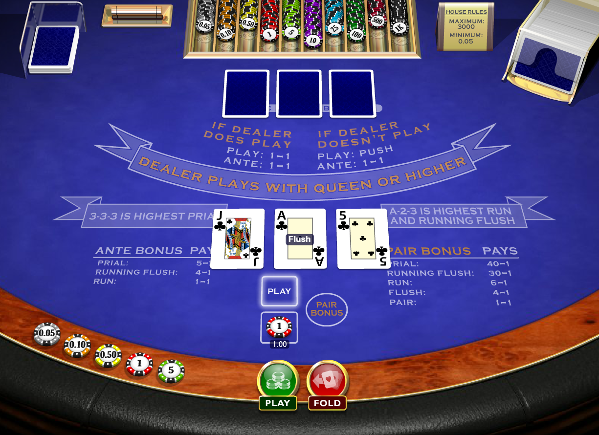 live how to play 3 card brag game online rules