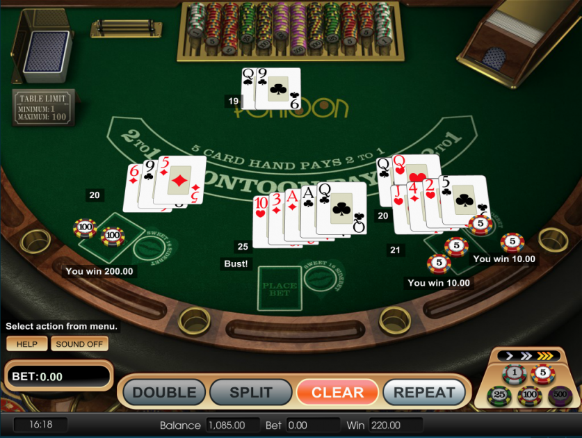 pontoon blackjack 21_card game