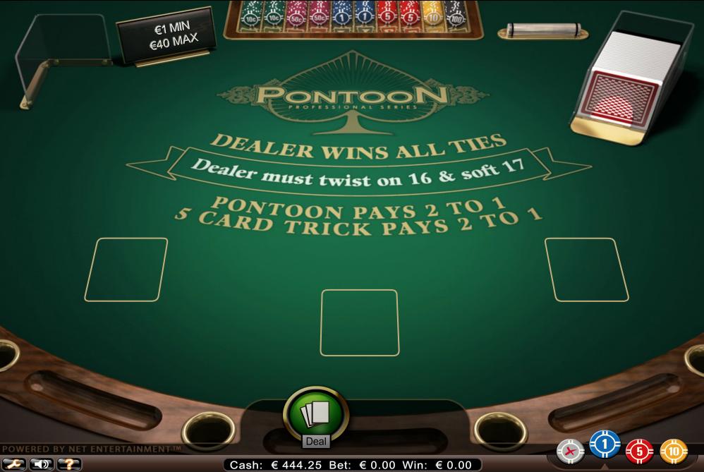 pontoon blackjack_game rules