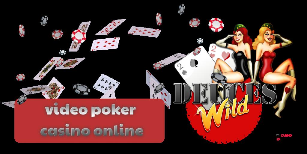 text - deuces wild - video poker casino online