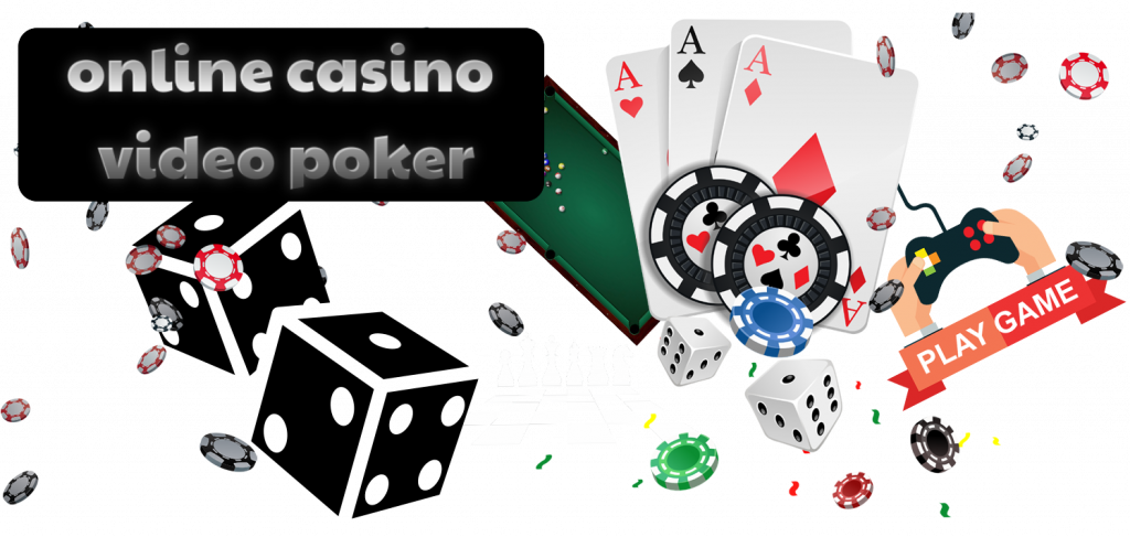 text - online casino video poker - cards, dice