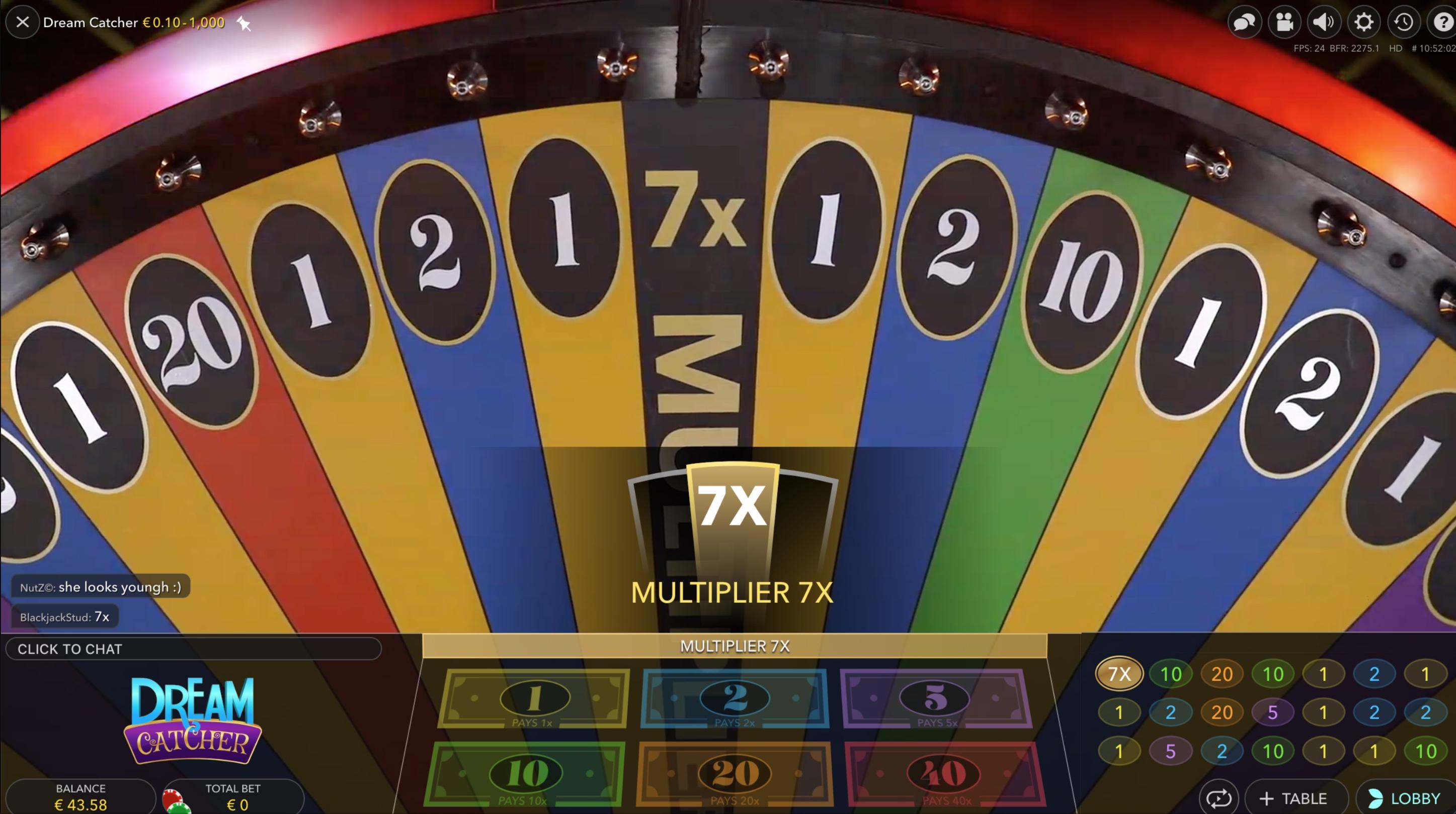 evolution gaming dream catcher money wheel_rules_strategie