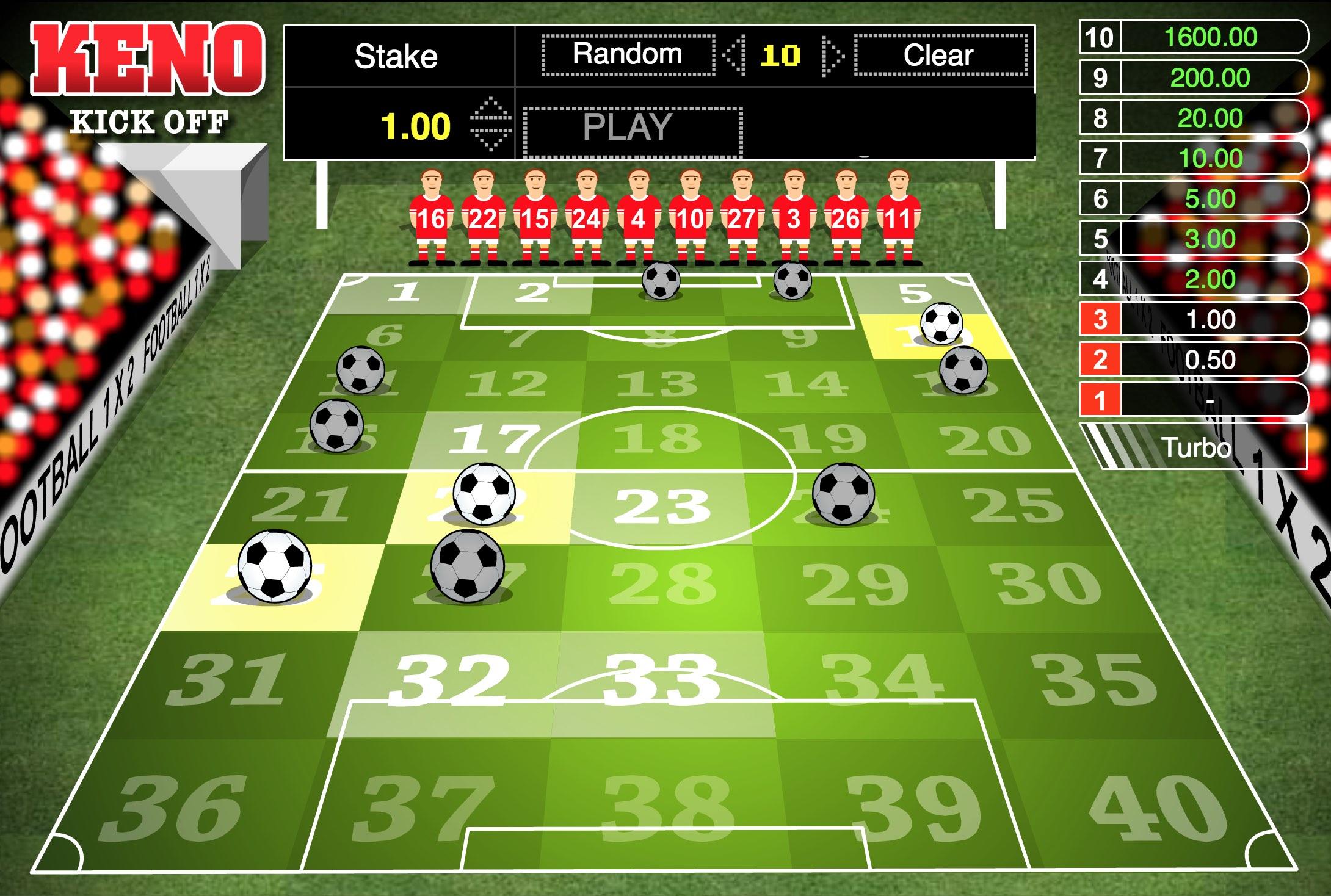 How to play Keno variācijas Kick Off spēle internetā
