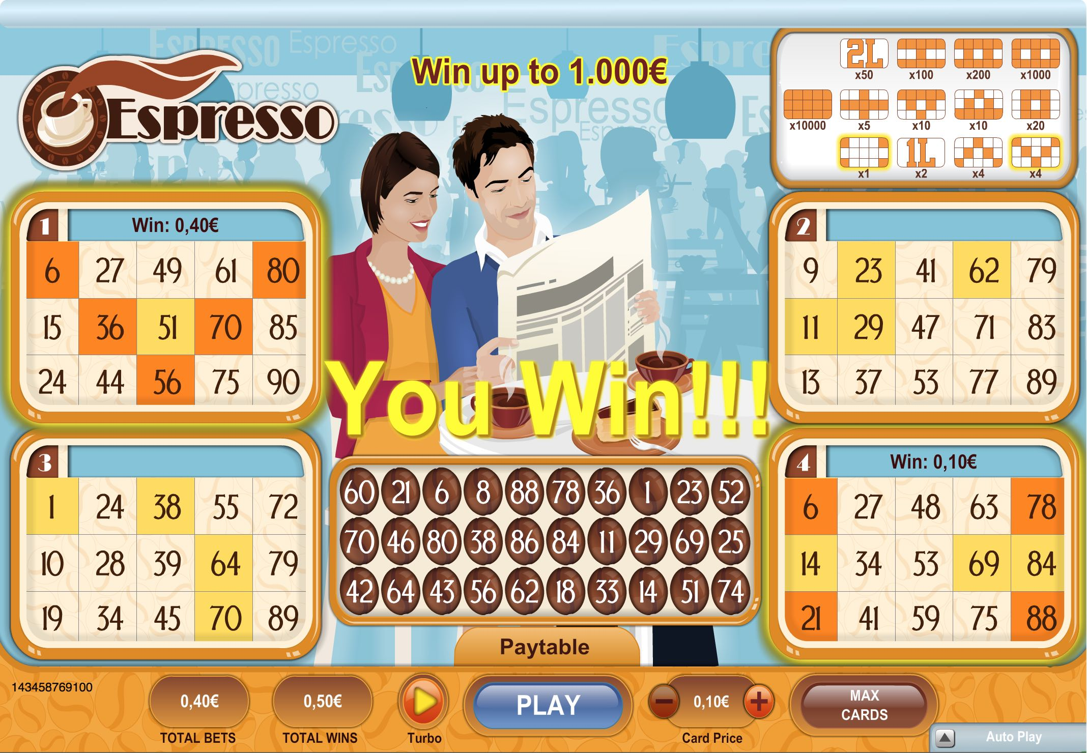 K-E-N-O laimesti - padomi - Espresso spēle online casino