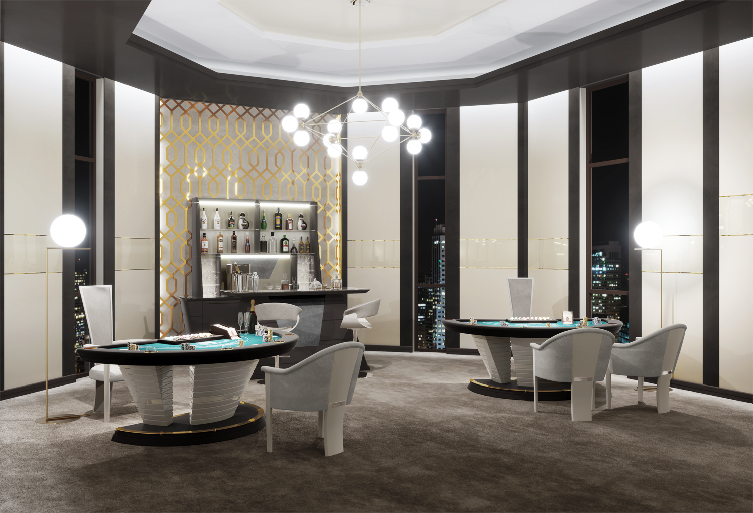 Luxury private blackjack table