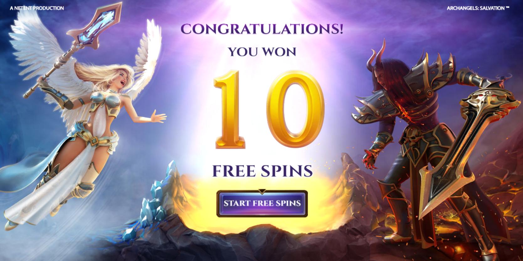 Archangels Salvation slot game Free Spins