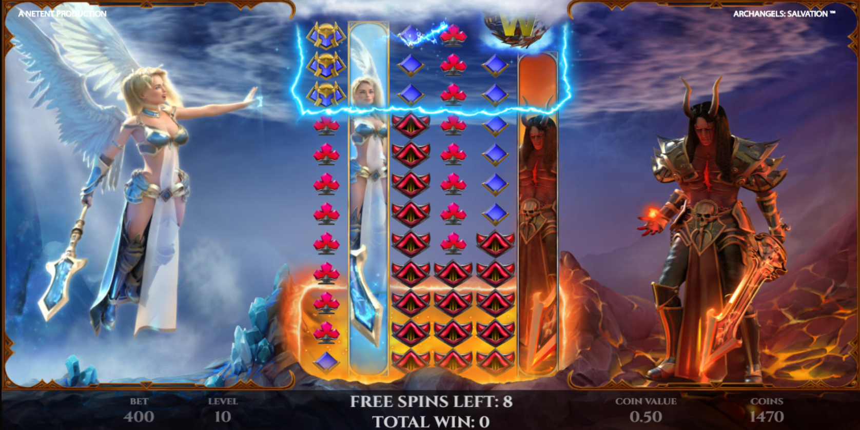 Archangels Salvation slot game Special Effects