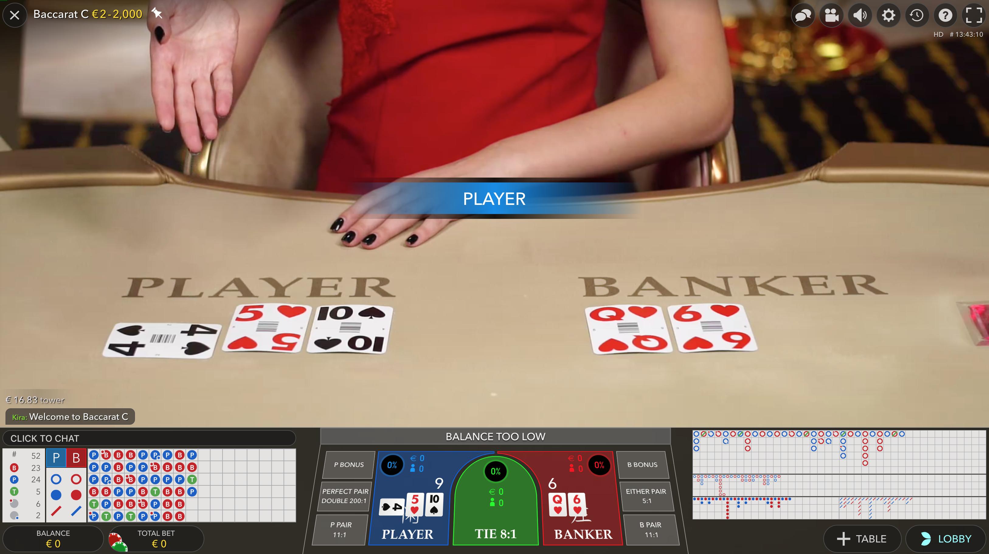 Live-Händler Baccarat online_spieler gewinnt