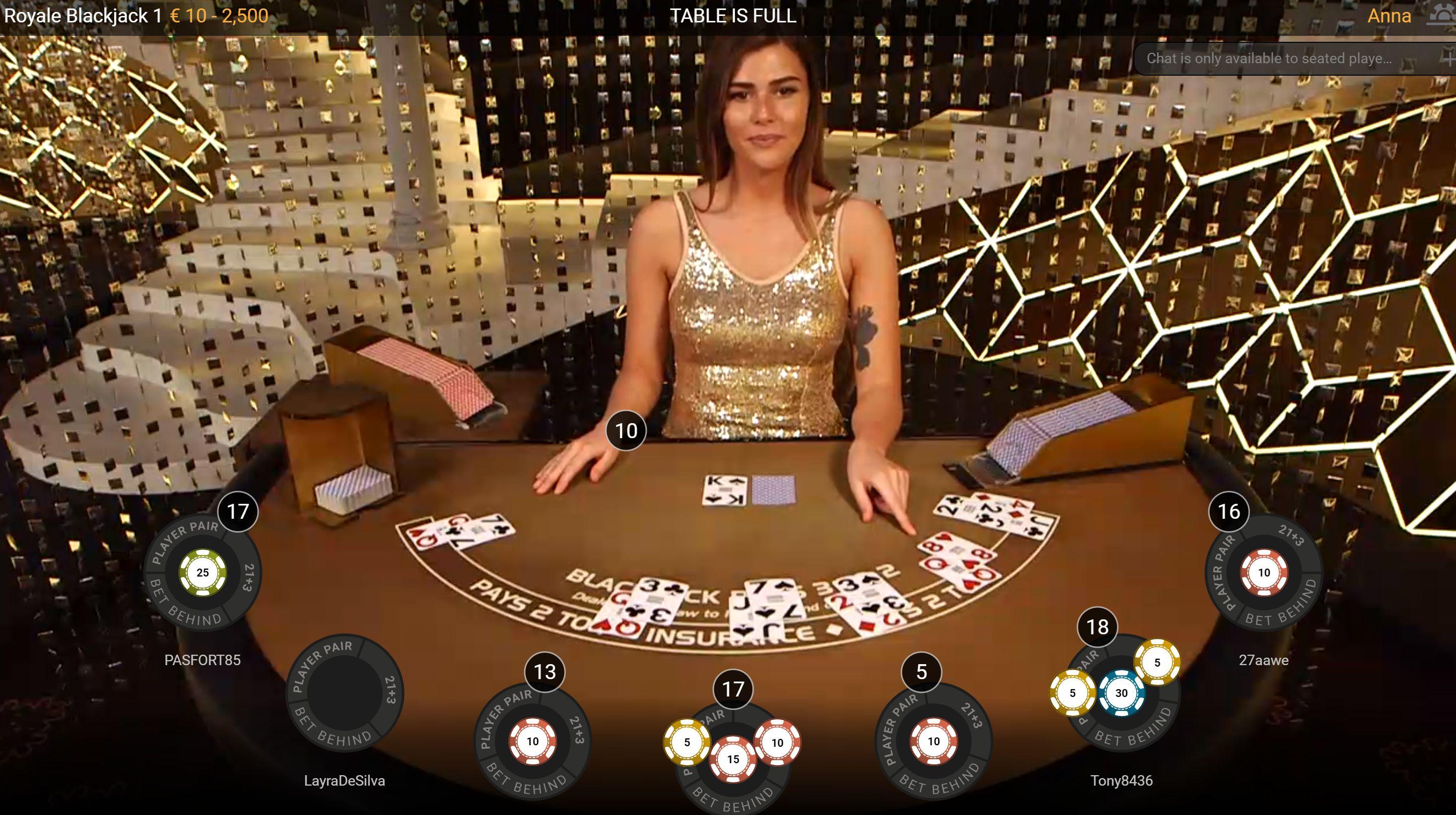 Live-nettikasino_Live Blackjack korttipeli