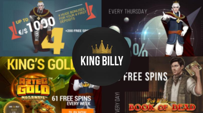 king billy casino bonus codes - king gold book of dead