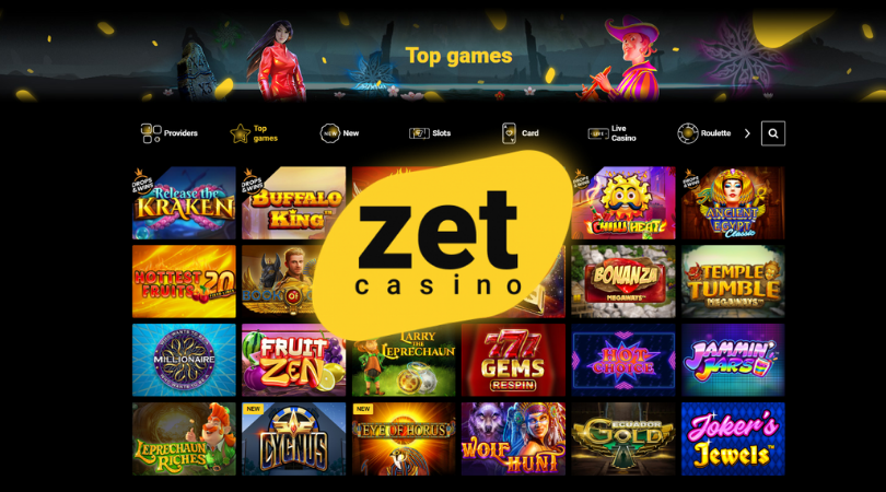 zet casino top games