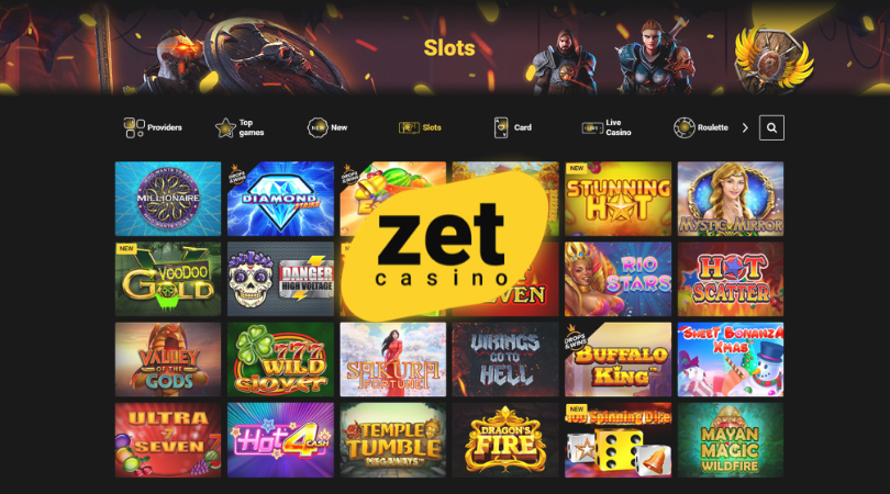 zet casino slots - millionaire buffalo king temple tumble dragon fire