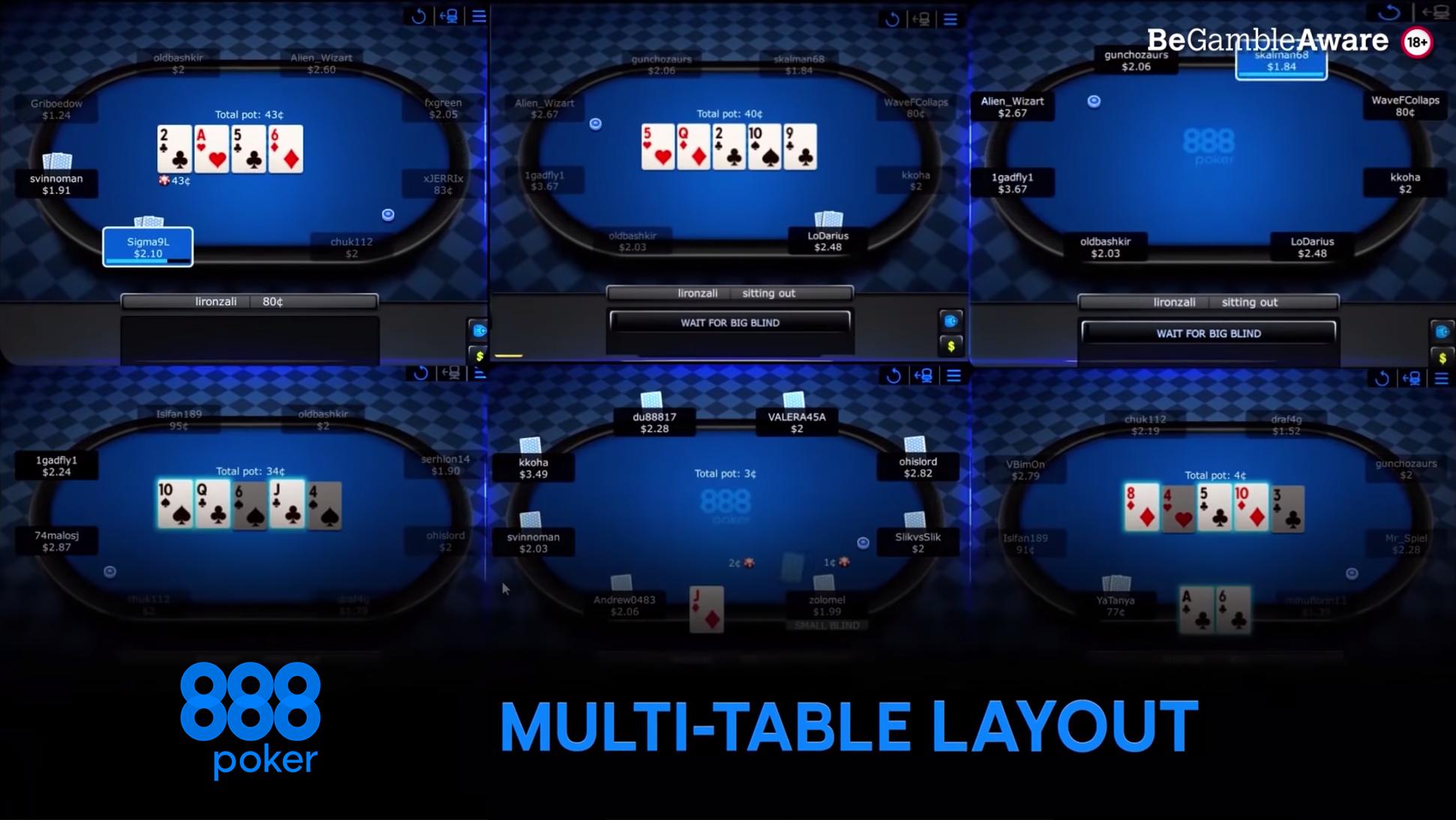 888 pokers online uz naudu - daudzgaldu pokera galds tiešsaistē