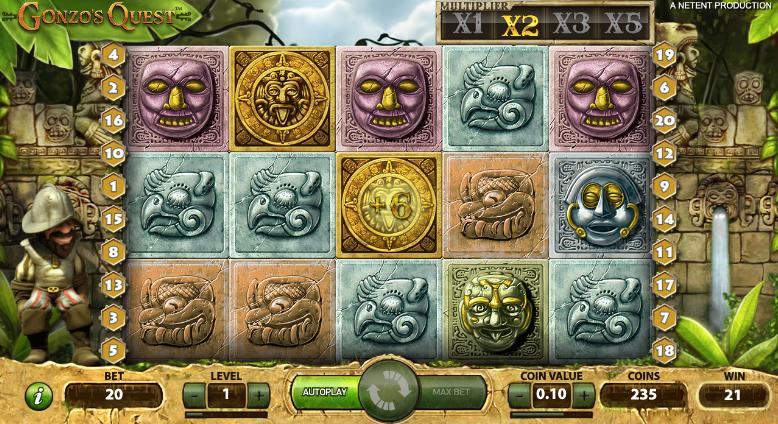 Gonzos quest spēļu automāts bezmaksas - vizuālie efekti