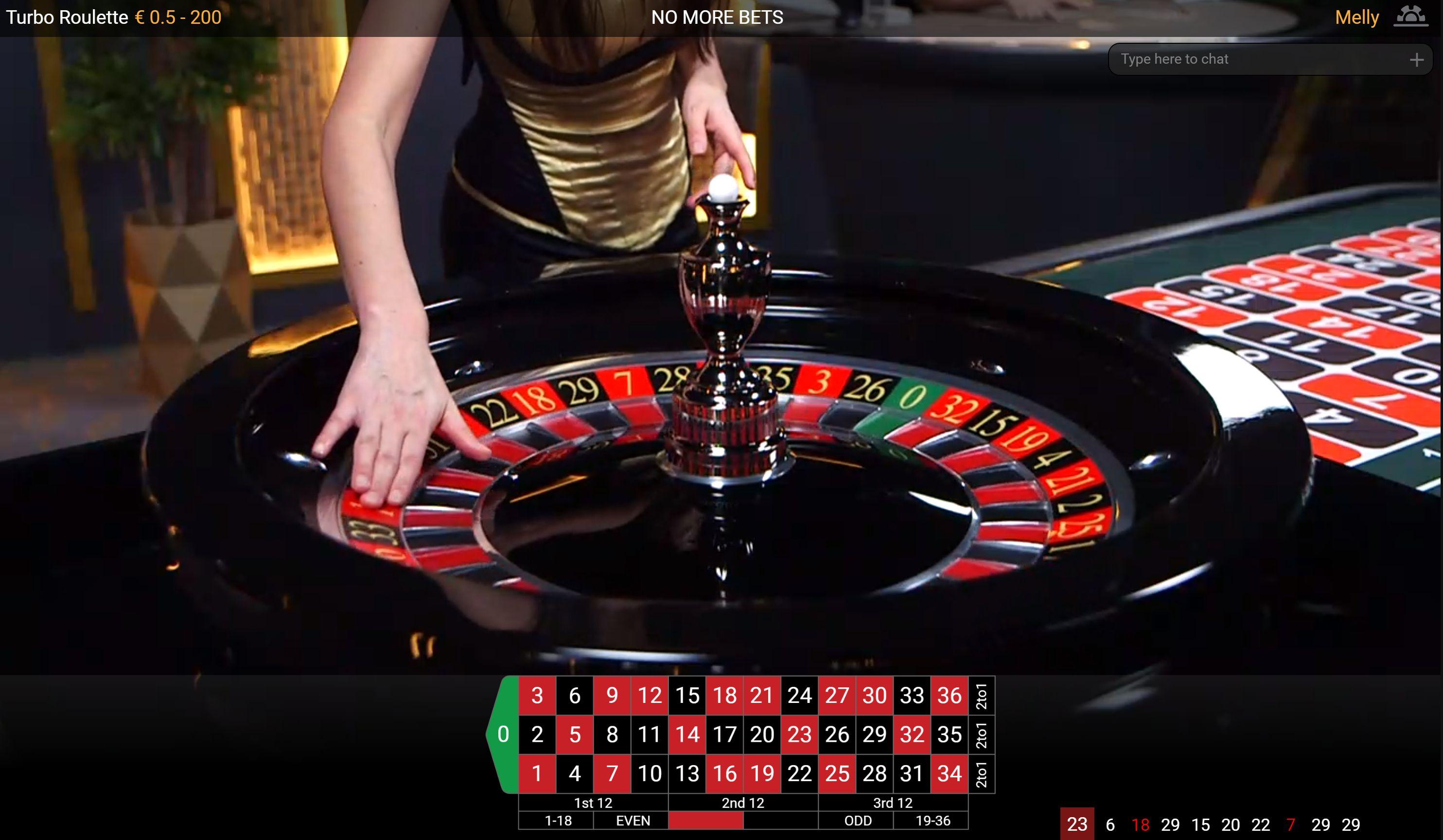 Live Rulete kazino