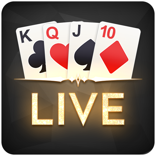 Live casino - icon with cards