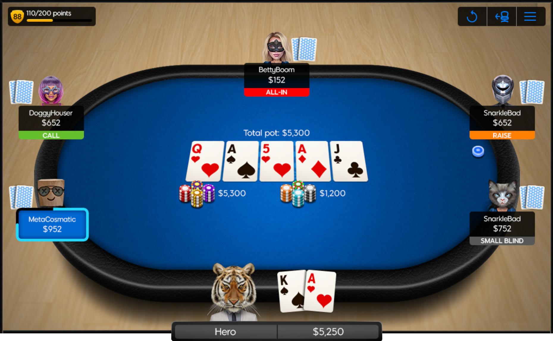 Pokers online kazino galds ar spēlētājiem Zivs medīšana (fish hunting)