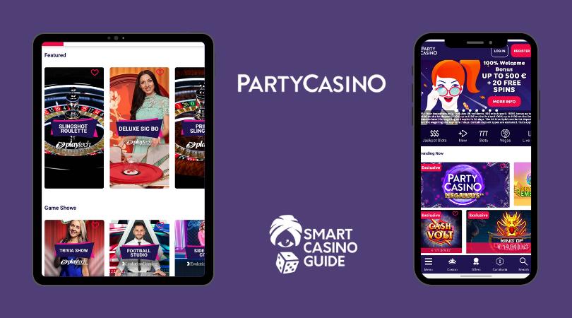 partycasino app - partycasino mobile - live casino - promotions - slots