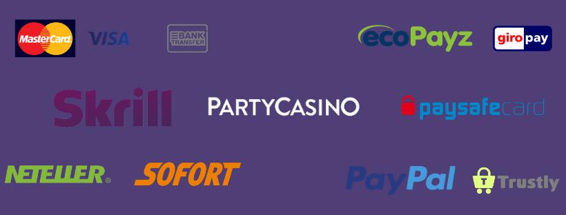 partycasino withdrawal times - neteller - skrill - sofort - paypal- giropay - visa - mastercard