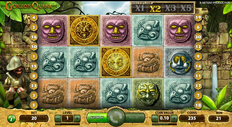 netent gonzo's quest kolikkopeli slot hedelmäpeli peliautomaatti kasinopelit netissä netti rahapelit nettikasino