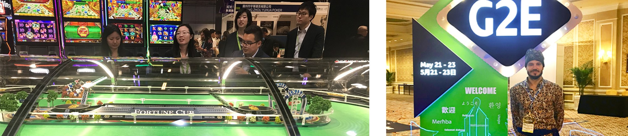 SmartCasinoGuide-tiimi G2E-online-pelikokouksessa
