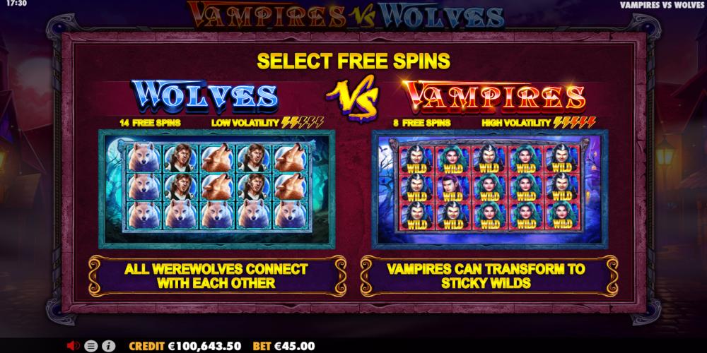 Vampires Vs Wolves Slot Review Try Free Demo Top Casinos List
