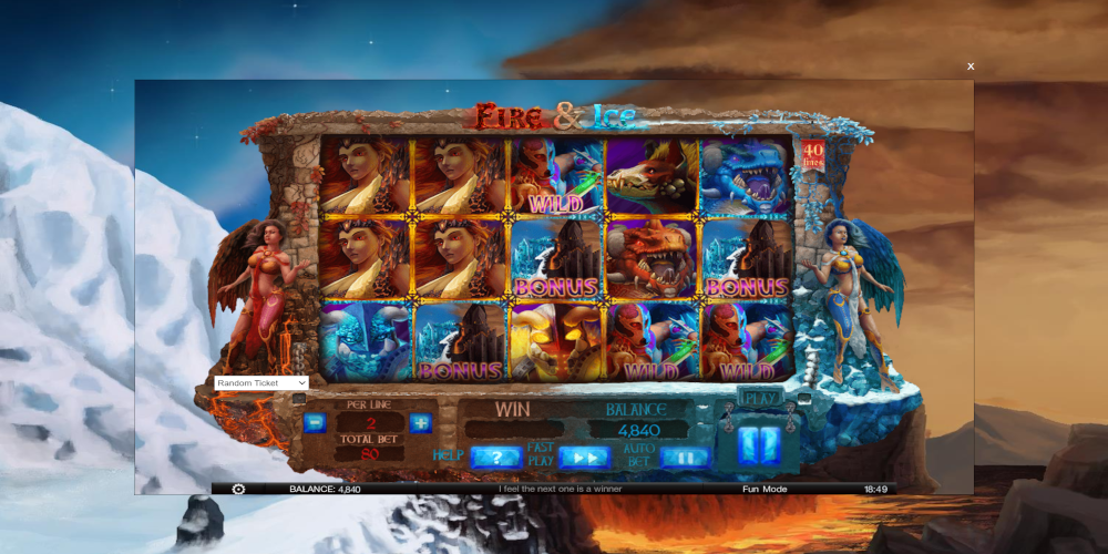 Guardians Of Fire And Ice Slot Machine