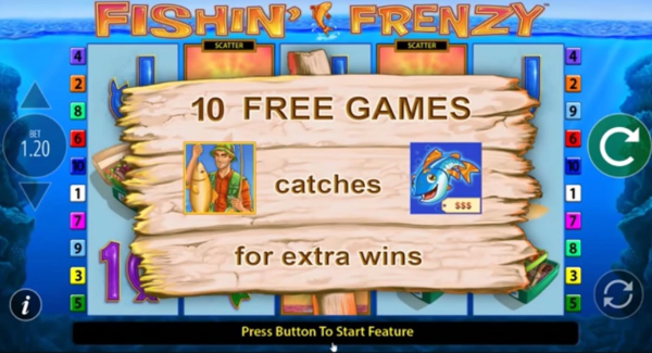 Fishin Frenzy slot game Free spin