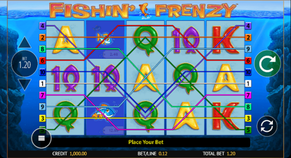 Fishin Frenzy slot game Gameplay